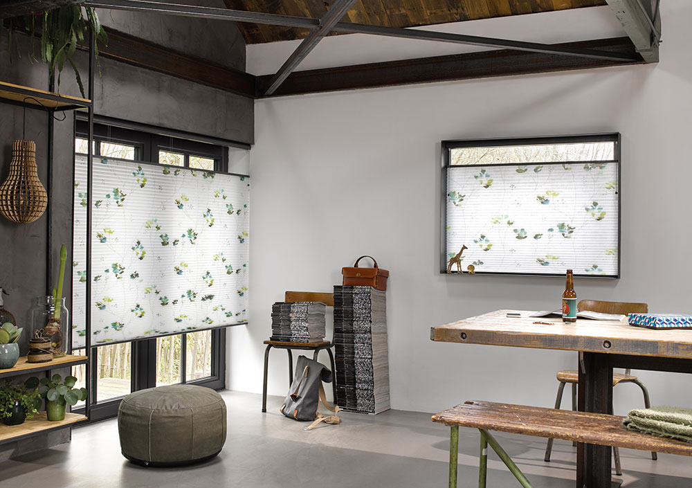 Duette gardiner med mønster
