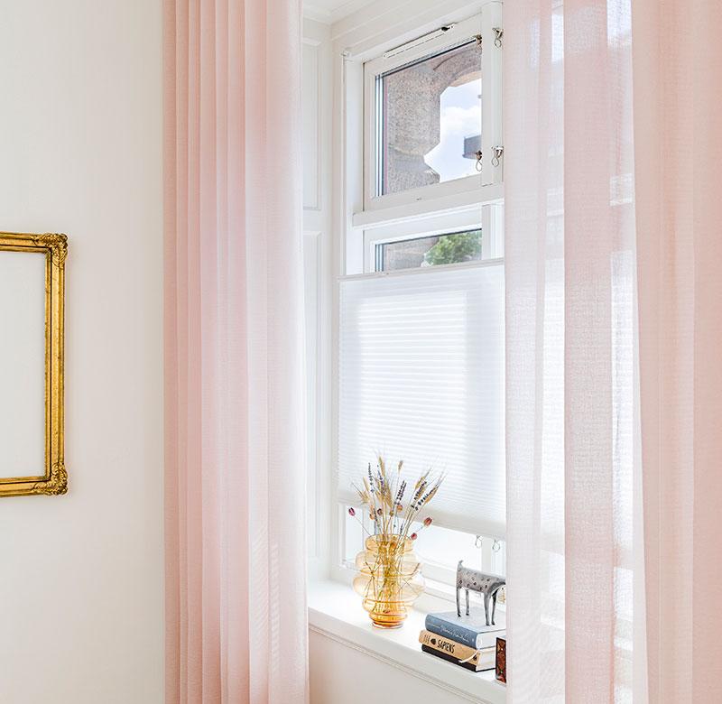 Lette lyse tynde gardiner