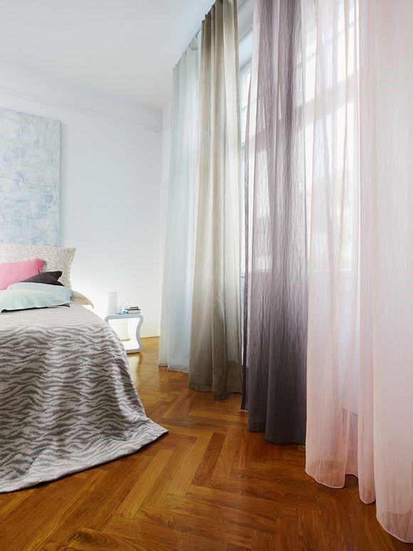 Tynde gennemsigtige gardiner